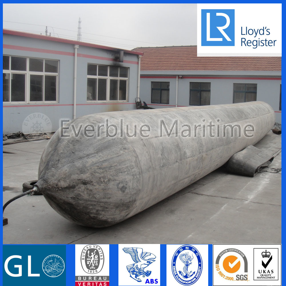 Ship Launching Marine Airbag with Synthetic-Tire-Cord Reinforcement Layer