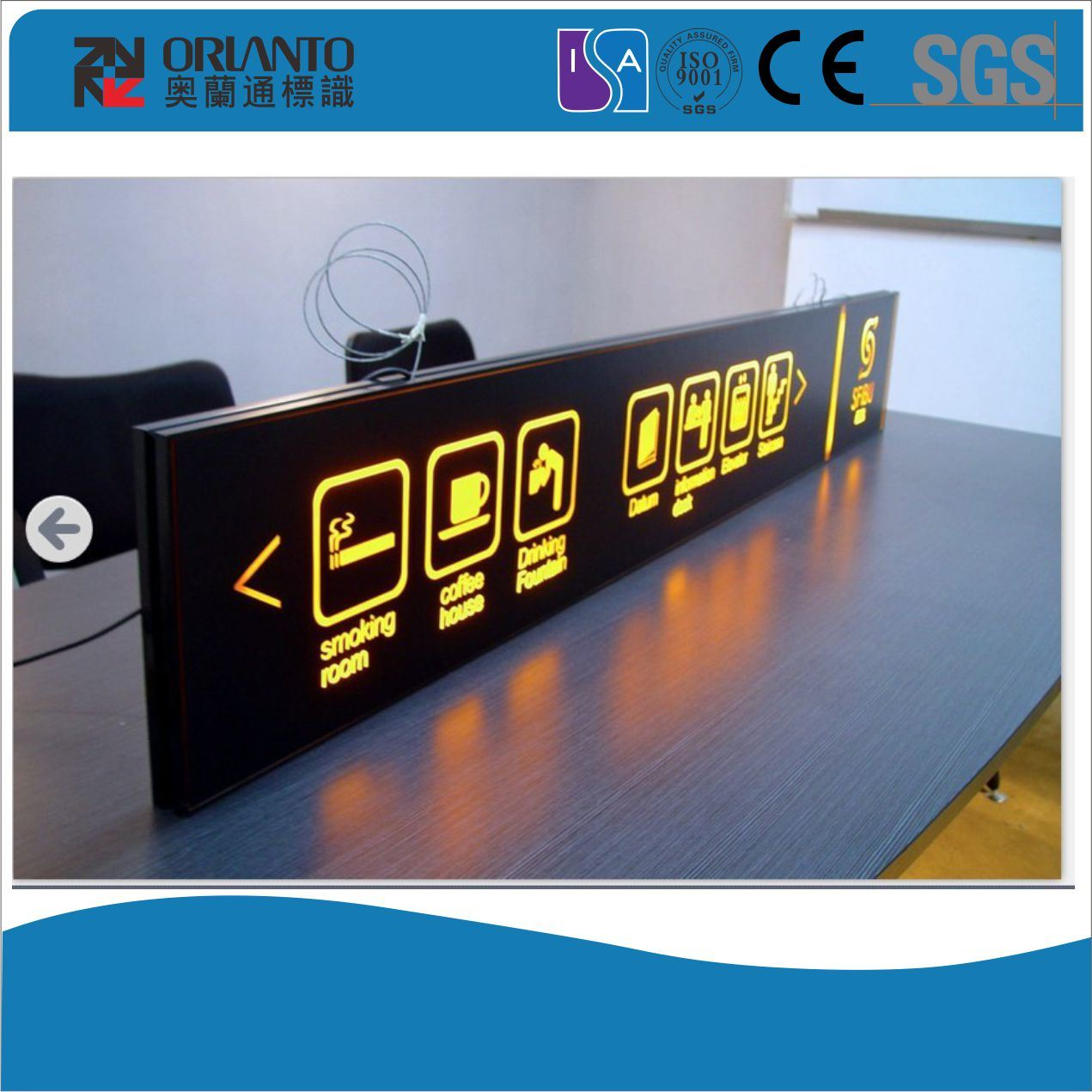 Exit Guide Panel Slim Light Box