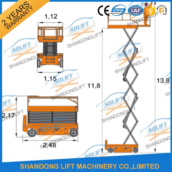 Hydraulic Scaffolding Scissor Lift Scaffold with Ce