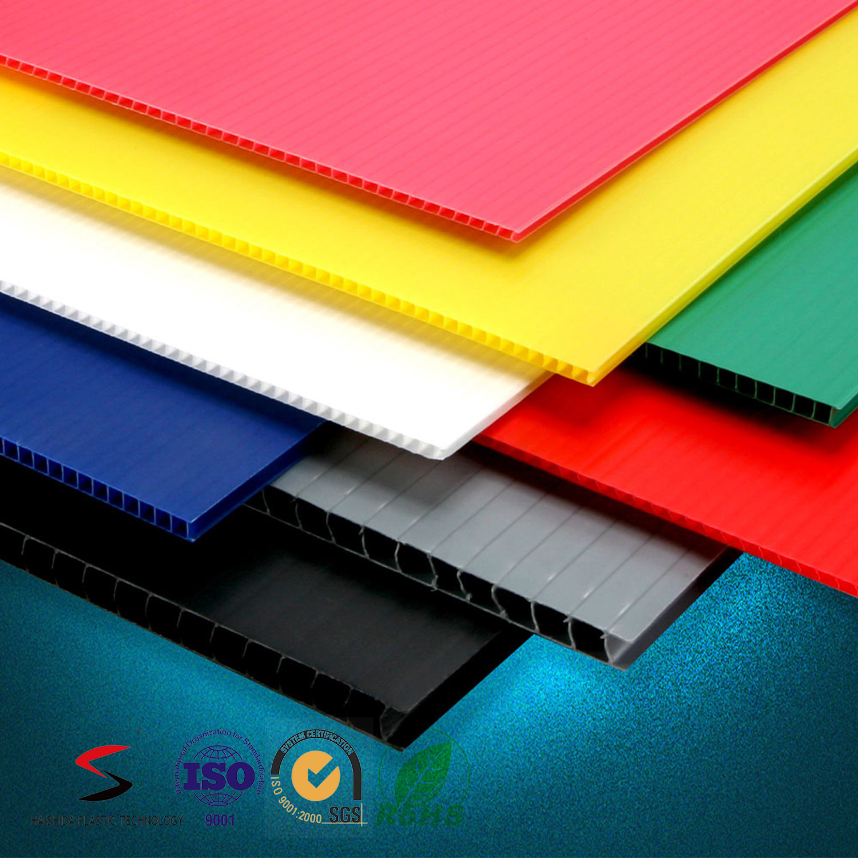 2-12mm Polypropylene Twin Wall Sheet Corrugated PP Board