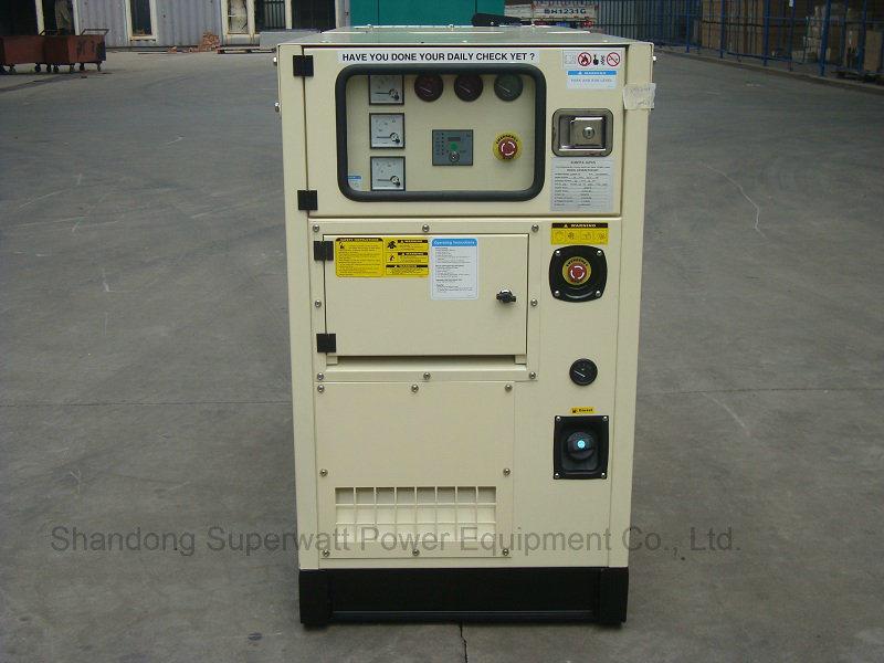 Super Silent Type Generator Set by Kubota Power 8.8kVA-40kVA
