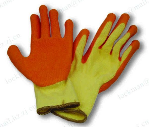 Working Leather Gloves with CE Approval (SQ-014)