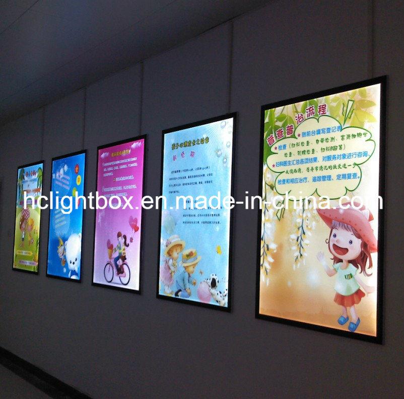 LED Aluminum Frame Crystal Light Poster Panel