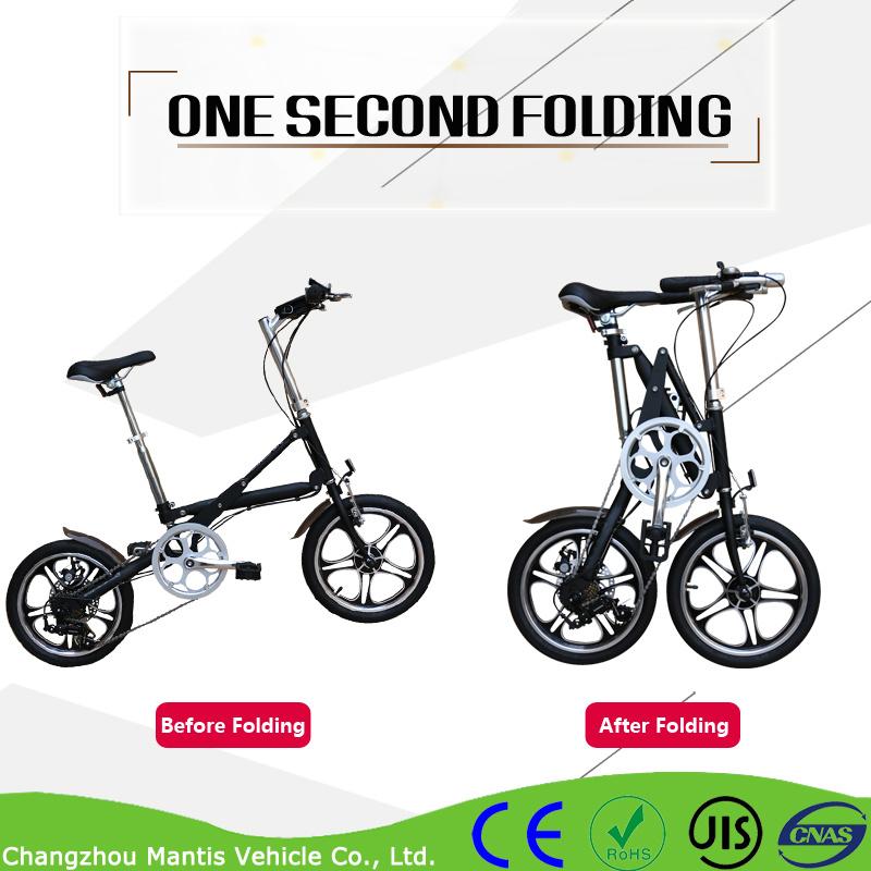 Aluminum Alloy 7 Speed Portable Folding Bicycle