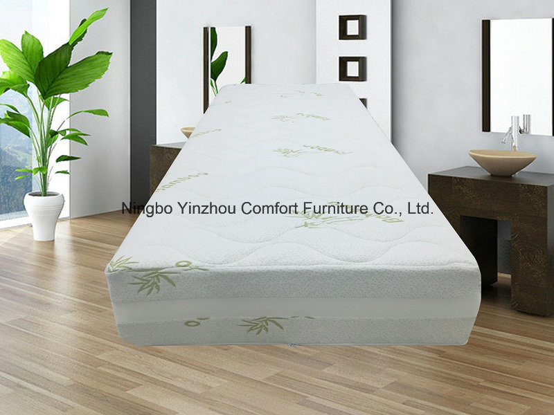 Memory Foam Mattress with Zippered Bamboo Cover