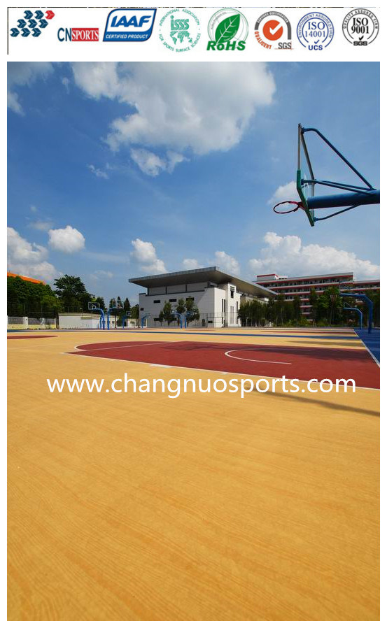 Excellent Silicon PU Sports Court for Basketball/Tennis/Vollyball/Badminton Flooring
