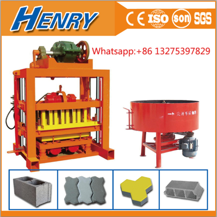 Low Investment Business Qtj4-40 Pave Block Moulding Machine Brick Machine Concrete Hollow Blocks Machine Price in The Philipines