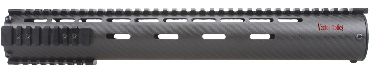 Tactical Ar15 Carbon Fiber Free Float 15 Inch Handguard Picatinny Rail Mount