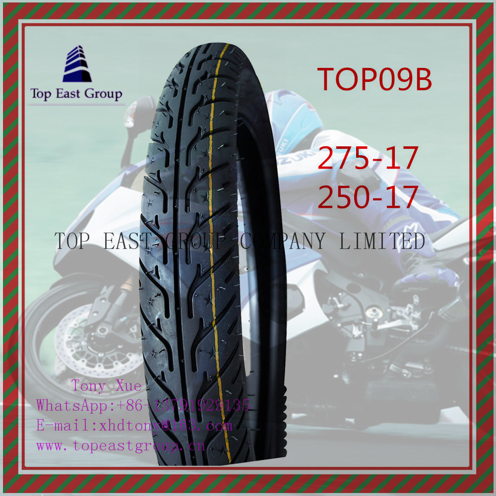ISO Nylon 6pr Long Life Motorcycle Tire 275-17, 250-17