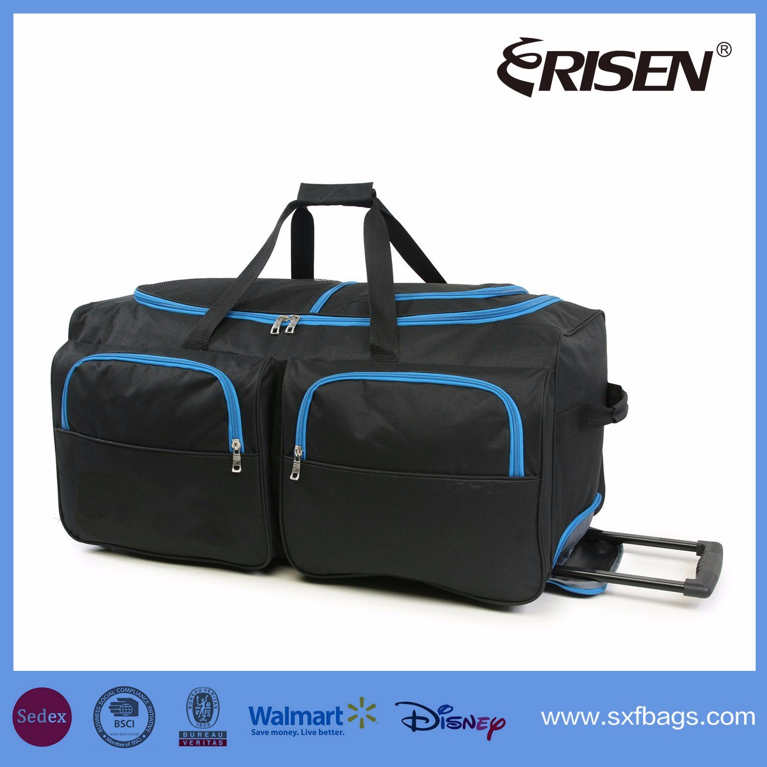 Waterproof Wheeled Trolley Fashion Leisure Travel Luggage Duffel Bag