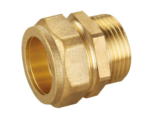 China brass compression fittings for copper tube pipe