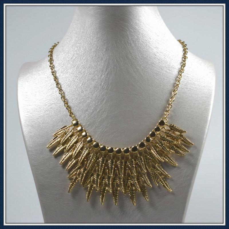 New Item Design Leaves Point Elegant Fashion Necklace Jewellery