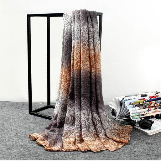 Fashion Colorful Lady 100% Cotton Voile Scarf