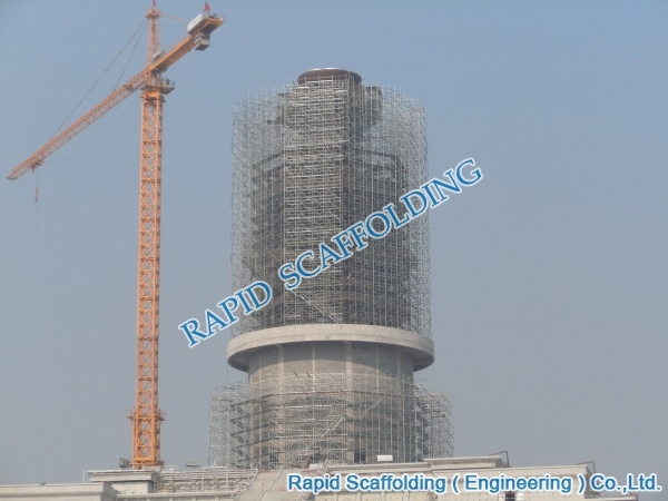 Construction Project Scaffolding of Tower