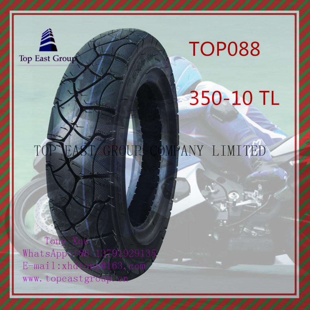 350-10tl Super Quality 6pr Nylon Tubeless Motorcycle Tyre