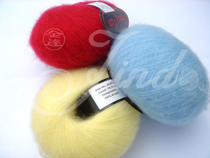 Mohair Yarn, Hairy Acrylic, Handknitting Yarn, 100%Acrylic, Fancy Yarn