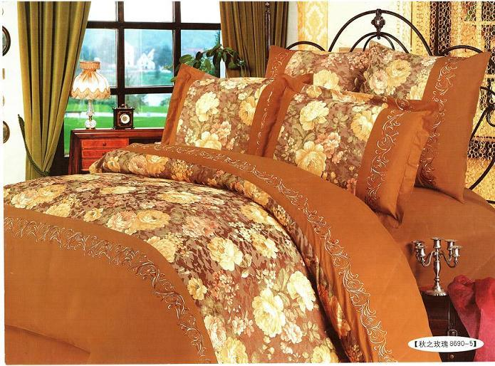 China Bedding Set Autumn Rosy 8690 5 China Silk