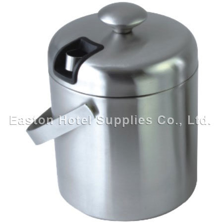 Hotel Brushed Stainless Steel Ice Bucket with Ice Tong