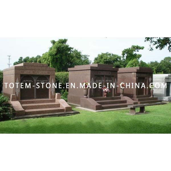 Cheap Price Granite Stone Cemetery Mausoleum for Sale
