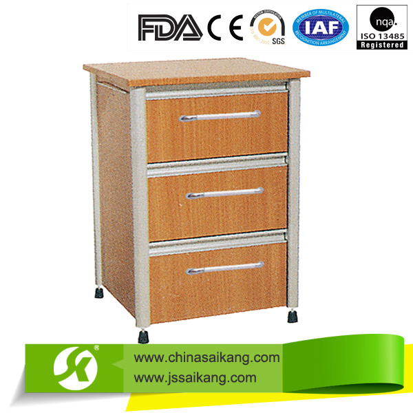 High Quality Hospital Medical ABS Top Steel Bedside Cabinet
