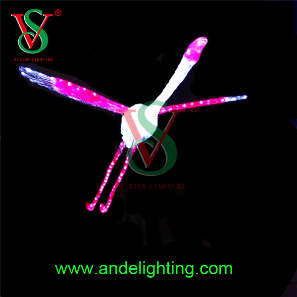 Animal Series Decorative Motif 3D LED Flamingo Light