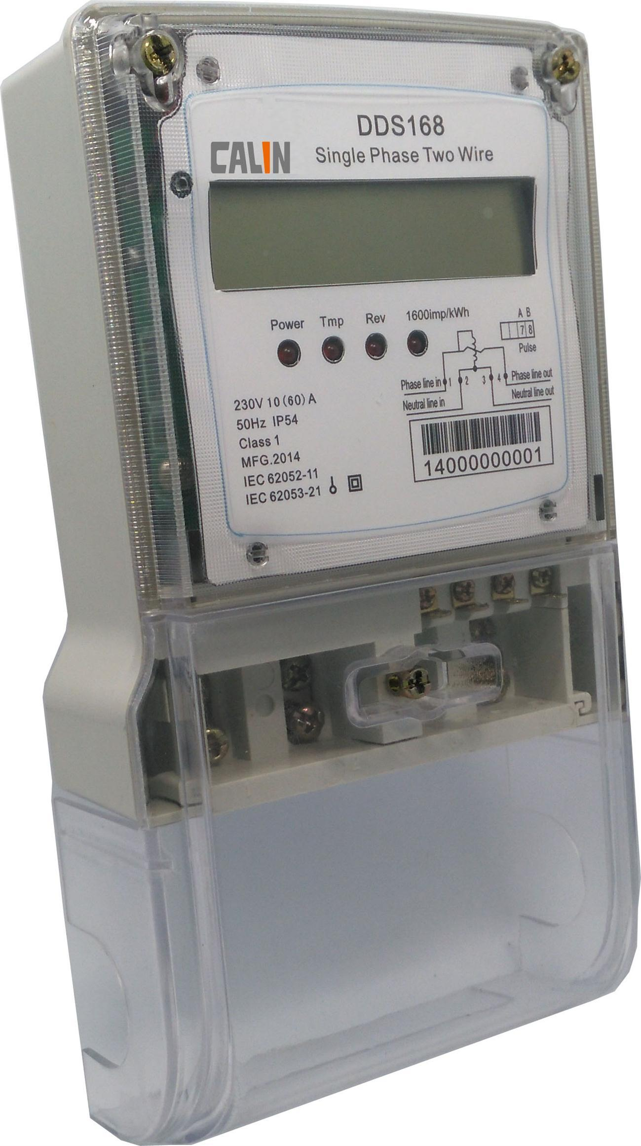 Single Phase Tamper Proof Electricity Energy Meter