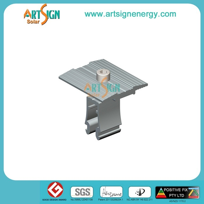 Solar Clamp for Aluminum Solar Panel Stand in PV System