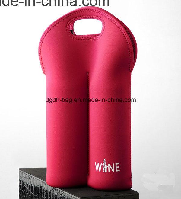 Cheap Neoprene 2 Bottles Pack Beer Can Cooler Bag
