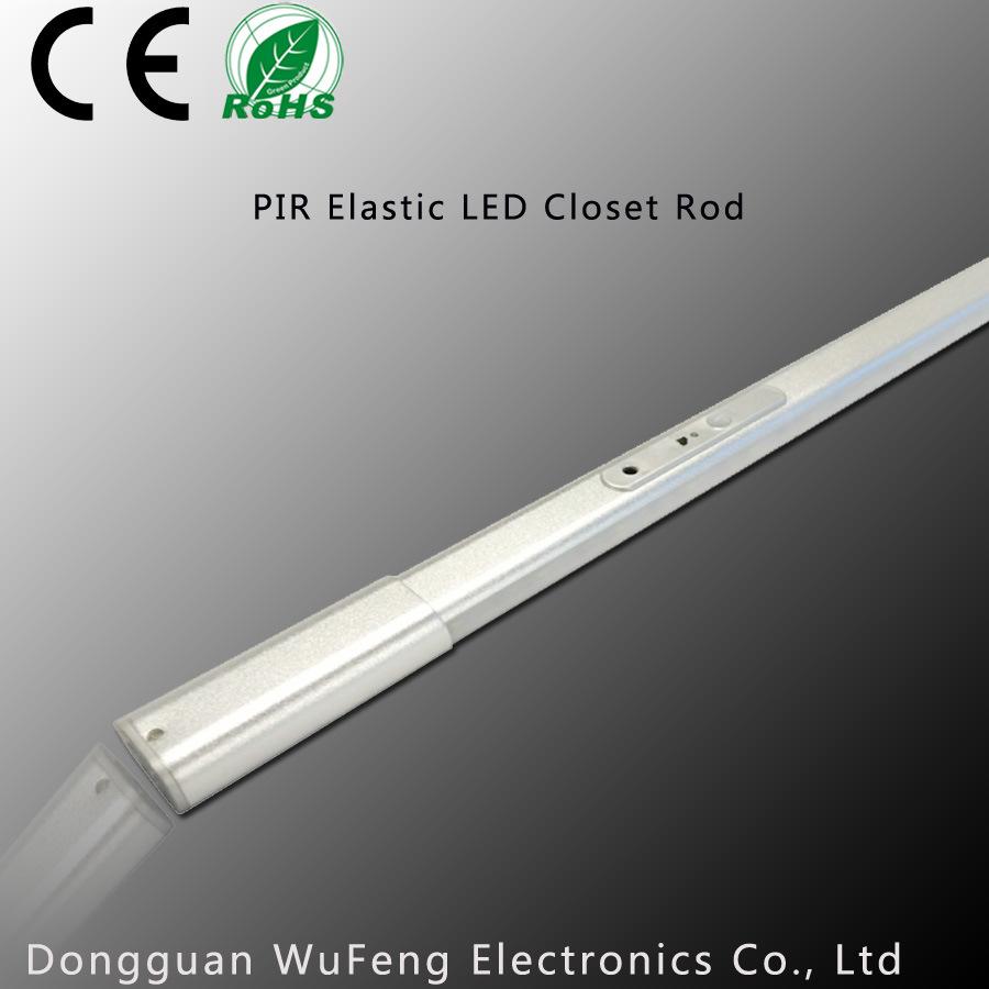 China PIR Elastic LED Closet Rod, Wardrobe Light   China LED Cabinet Light,  LED Furniture Light