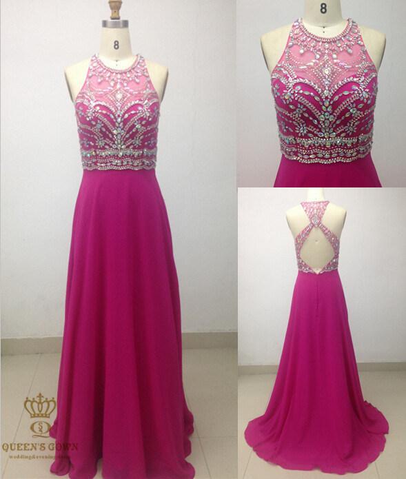 Elegant Evening Dresses. Heavy Beaded Evening Wear with Diamonties