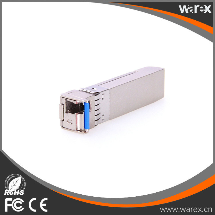 Cisco Compatible 10GBASE-BX 1270nm TX, 1330nm RX, 10.3Gbps, SM, 60km, Single LC SFP+ Transceivers