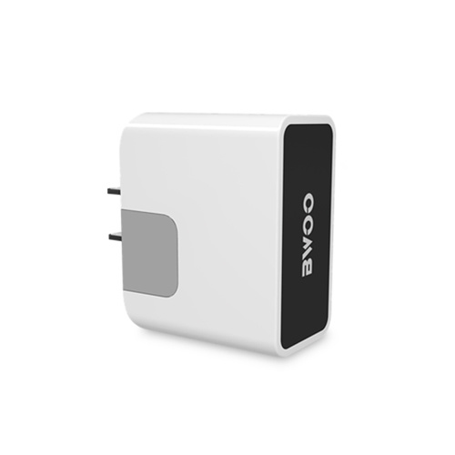 Hot Selling Dual USB Wall Charger with Blue LED Indicator