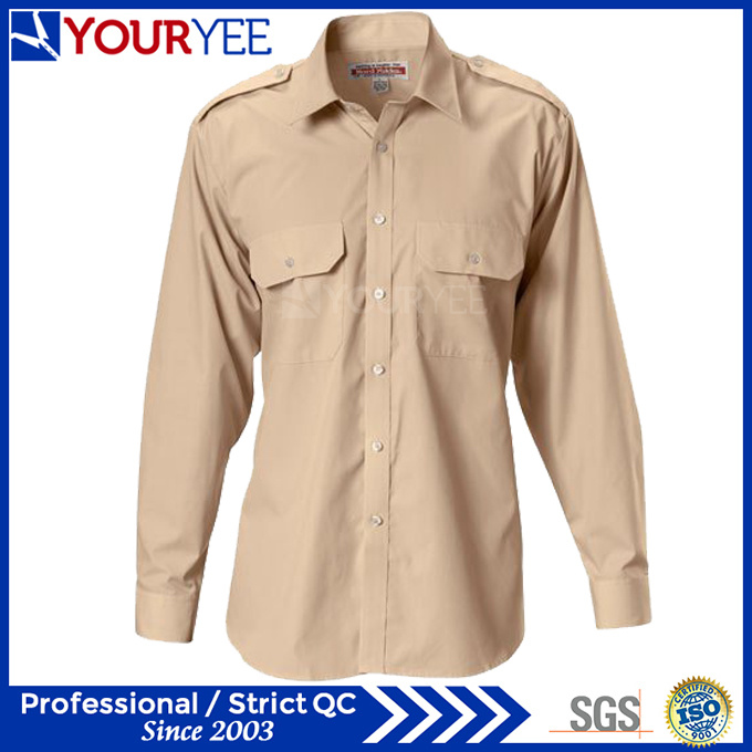 Customized Cotton Work Shirts Summer Work Chothes (YWS114)