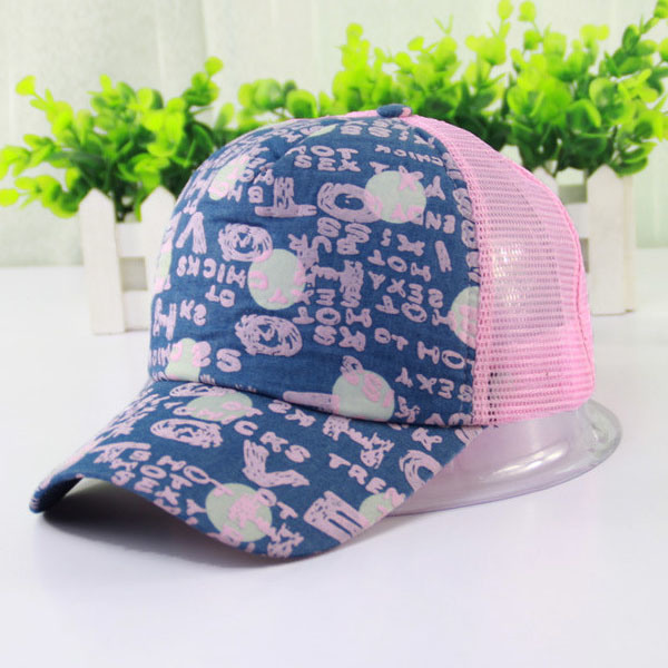 Lady Fashion Printed Cotton Mesh Baseball Leisure Cap (YKY3035)