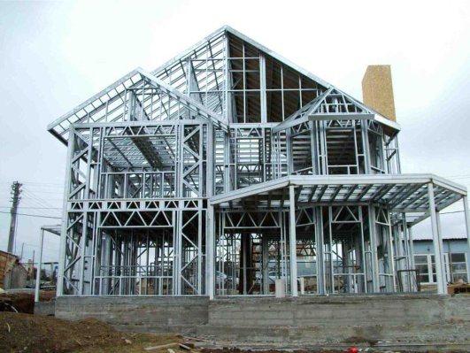 Light Gauge Steel Construction Components C & U Steel Frame & Purline Roll Forming Machine