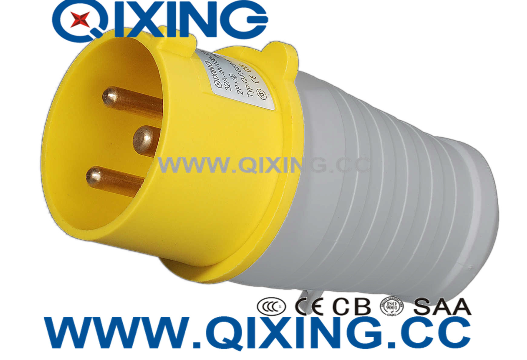 IP44 2h Yellow/Gray Good Price Power Plug for Industrial Use