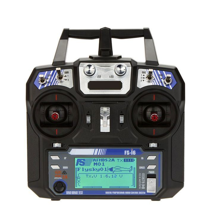 Fs-I6-2.4GHz 6CH Radio System Transmitter for RC Helicopter Glider