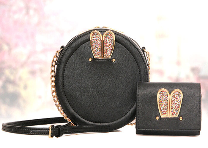 Wholesale 2PCS Set Bag Cute Style Fashion Leather Designer Handbag (XM0236)