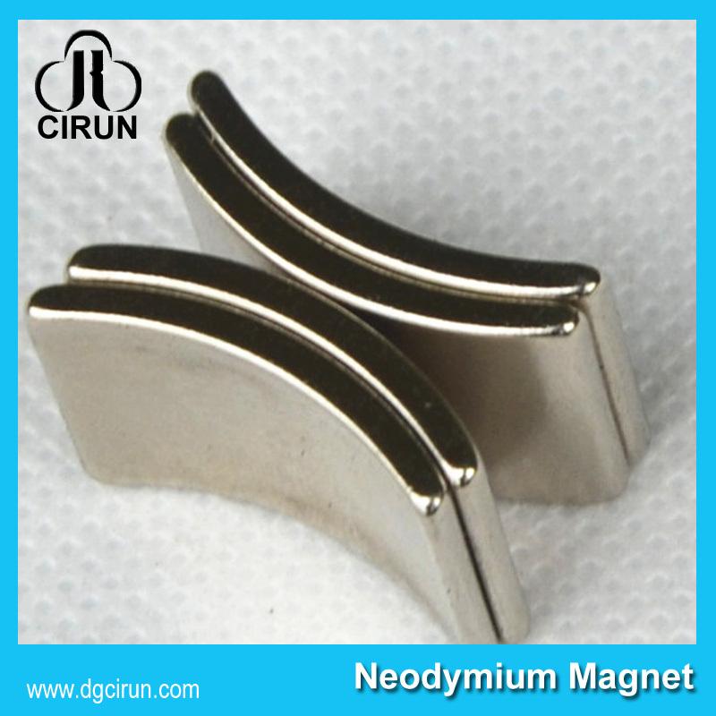 Customized Arc Shape Neodymium Motor Magnets N50