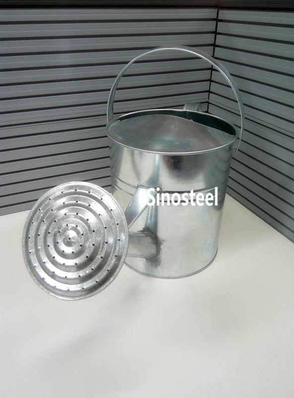 5L Galvanized Zinc Metal Watering Can for Garden, Metal Watering Pot