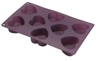 Silicone 8 Cup Heart Muffin Pan & Cake Mould &Bakeware &Silicone Kitchenware