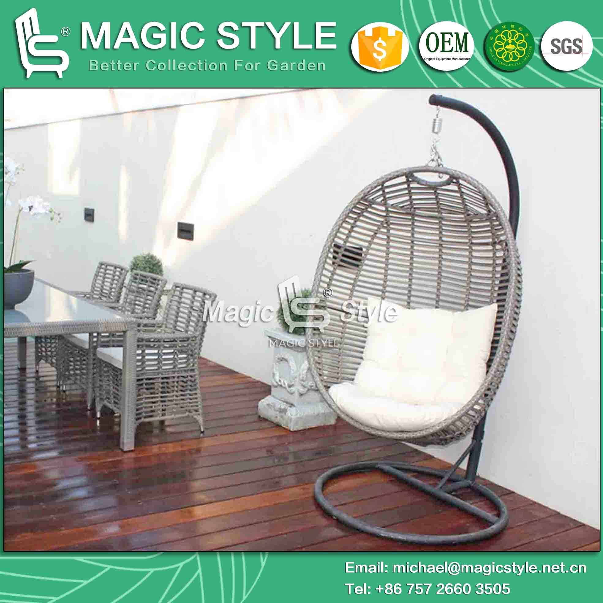 Wicker Swing Rattan Hammock Garden Cradle Leisure Chair (Magic Style) Foshan