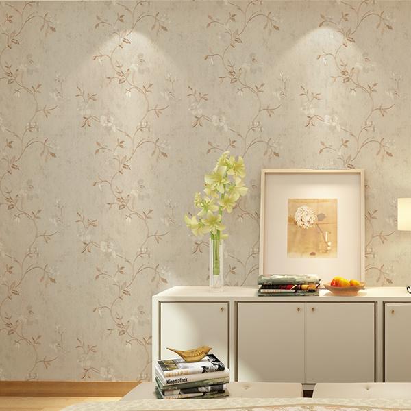 Seamless Classic Luxury Embossing Flower Wallpaper Fabric Livingroom Moisture-Proof