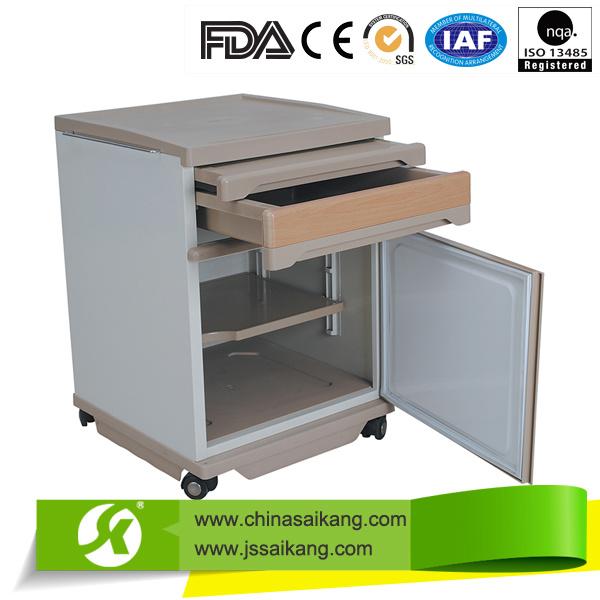 High Quality Hospital Medical ABS Top Steel Bedside Cabinet