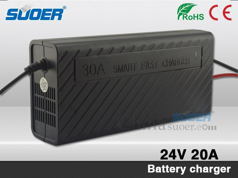 Suoer Li-ion Battery Charger 24V 20A Automatic Battery Charger (SON-2420B)