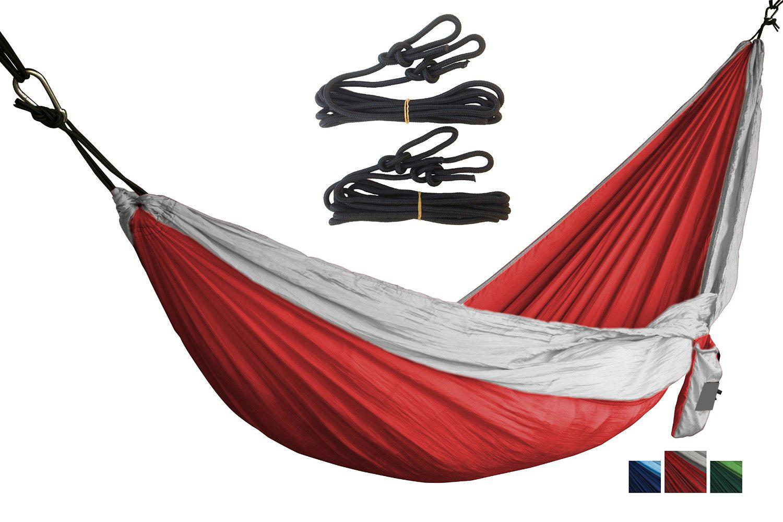 Carries Portable Lightweight Parachute Nylon Diamond Hammock