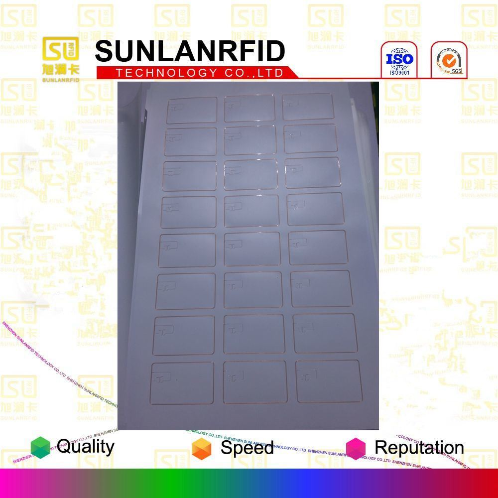 Free Samples High Quality 3X8 Layout FM1108 Chip RFID Card Inlay with Factory Price
