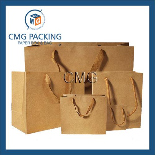 Kraft Paper Bag Wide Cottom Rope Packing Bag (DM-GPBB-074)