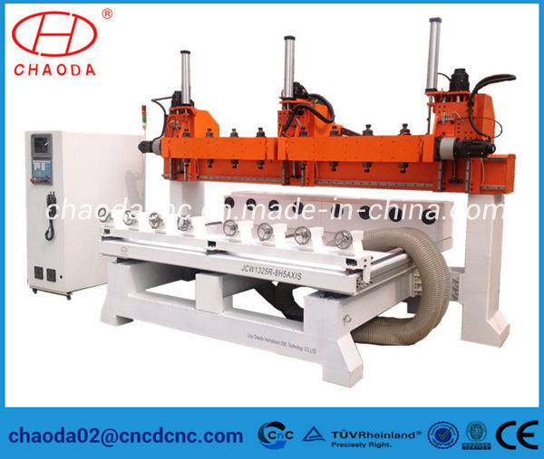 5 Axis Multi Head 3D Wood Carving CNC Router