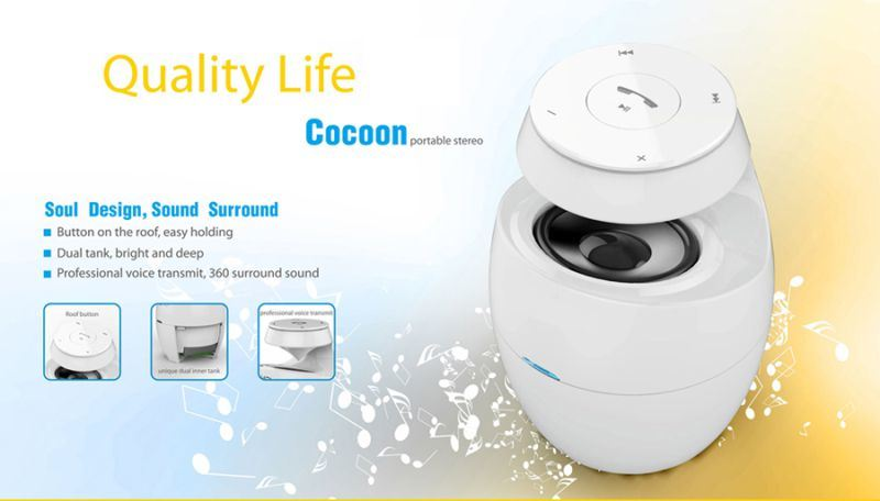 3.0+EDR Cocoon Shape Portable Mini USB Bluetooth Speaker